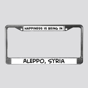 Happiness is Aleppo License Plate Frame